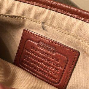 Leather Coach shoulder purse